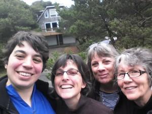 (left to right) Sarah Kinsel, Deborah Brink Wöhrmann, Peg Edera, Esther Elisabeth